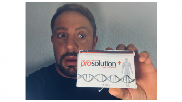 featured image of me holding my order of prosolution plus for my review