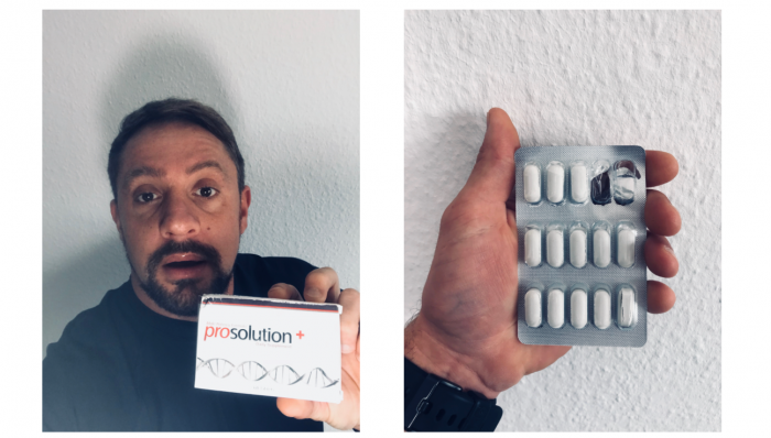 image of my prosolution plus box and pill blister pack