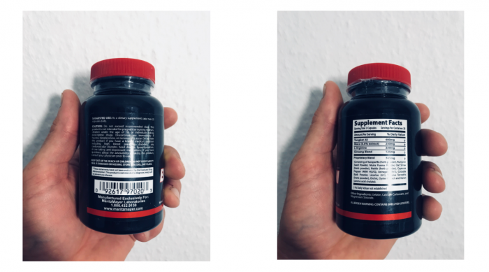 image of the ingredients label on the big Jim and the twins bottle