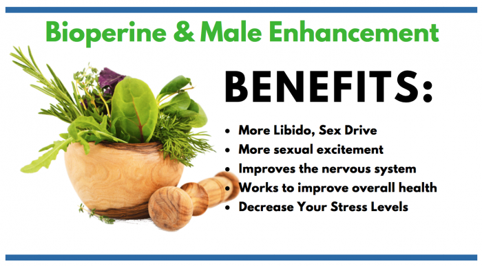 image stating the benefits of bioperine in make enhancement
