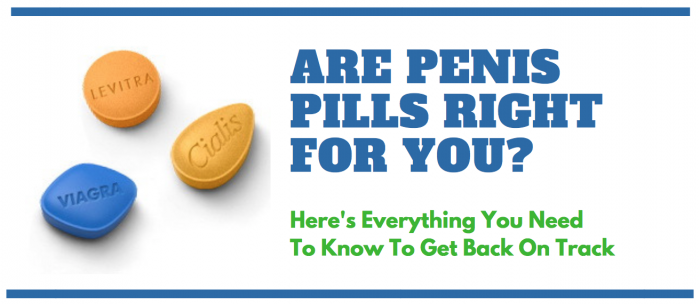 image saying are penis pills right for you