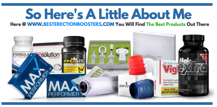 image of me with male enhancement products for the about me page