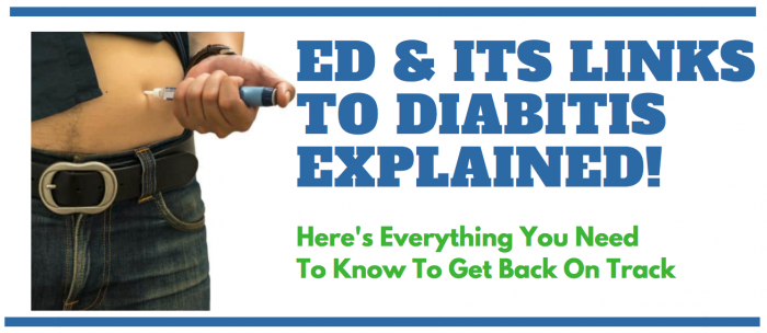 image showing man with diabetes and the links to ed