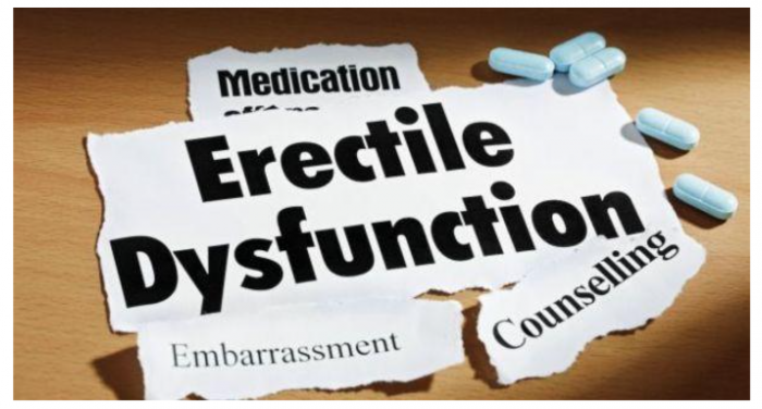 image saying erectile dysfunction and option for help