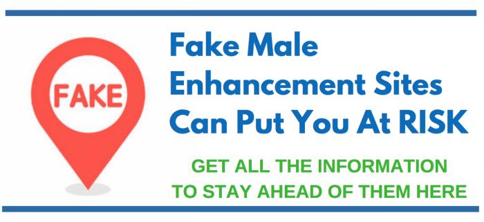 IMAGE SAYING WARNING ABOUT FAKE MALE ENHANCEMENT SITES