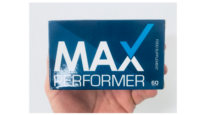 featured image of max performer pills and me holding a box