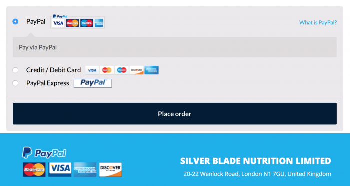 image of the different payment methods of max performer pills