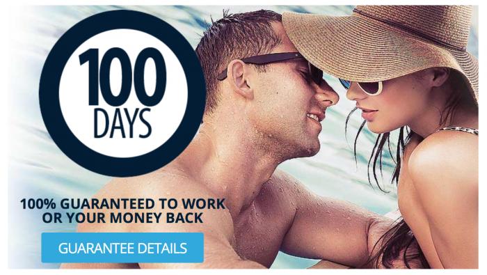 screen shot of max performer money back guarantee