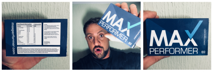 me and my box of Max Performer Pills